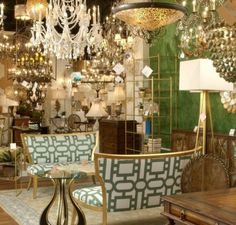 Currey & Company Showroom and products