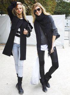 Model style . Anna selezneva and Maryna linchuk