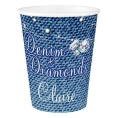 Diamonds and Denim Party Paper Cup