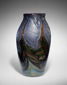 Crazy beautiful. Vase / Louis Comfort Tiffany / 1893-1896 / Favrile Glass / at the Met
