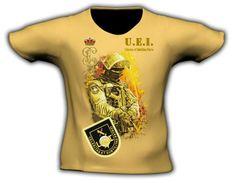 Camiseta en impresión directa a todo color. Distintas tallas. Colores: Tan, blanco y gris Precio; 19€