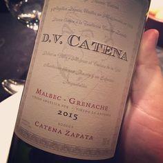 Ladies and gentlemen (?) con ustedes el nuevo D.V Catena #mabec #garnacha