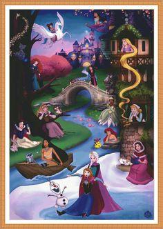 Disney Kingdom Cross Stitch Pattern / Princess Cross Stitch /   Etsy