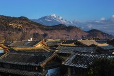 Mountainside at scenic #Lijiang