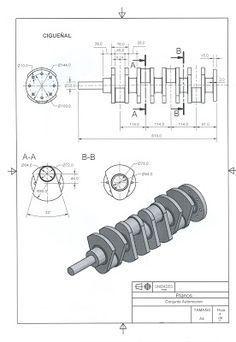 Catia e Inventor con Ciri: Motor 4 pistones y cigüeñal Mechanical Engineering Design, Engineering Works, Mechanical Design, Mechanical Projects, Bloc Autocad, Autocad Layout, Solidworks Tutorial, Isometric Drawing, Drawing Machine