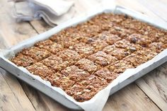 Cranberry, Seed & Oat Crunchies - Bits Of Carey Healthy Bars, Healthy Treats, Cake Recipes, Snack Recipes, Cooking Recipes, Crunchie Recipes, Salted Caramel Slice, Vegan Snacks, Cakes And More