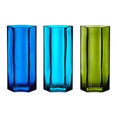 """7"""" vases at Ikea, on sale $1.50 for rehearsal dinner centerpieces"""