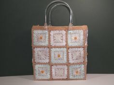 Vintage+Square+Hand+Woven+Hemp+&+Ribbon+Embroidery+by+2lewa
