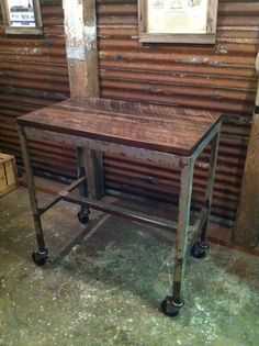 Kitchen Cart with reclaimed wood top and by JSReclaimedWood