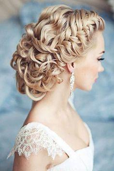 Wedding Hairstyles For Long Hair-Trendy & Pretty Hair Dos! Bridal Hairstyles With Braids, Hairstyles With Glasses, Braided Hairstyles For Wedding, Wedding Hairstyles For Long Hair, Fancy Hairstyles, Wedding Hair And Makeup, Hair Wedding, Bridal Braids, Wedding Braids