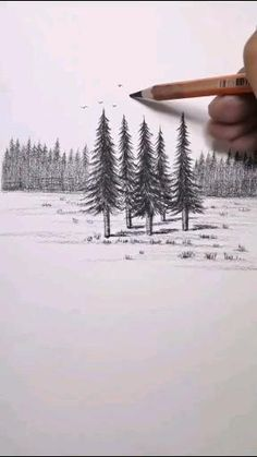 Landscape Pencil Drawings, Cool Pencil Drawings, Art Drawings Sketches Simple, Easy Drawings, 3d Art Drawing, Nature Drawing, Art Drawings Beautiful, Art Prints Quotes, Diy Canvas Art