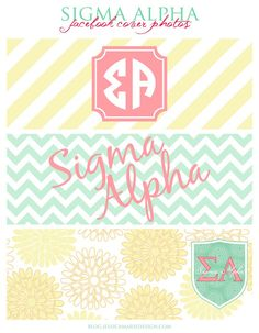 Sigma Alpha Facebook Cover Photos by Jessica Marie Design