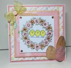 #EasterCard design made from Stamps by Chloe #Easter Stamp Trio! Available to buy at Create & #Craft - http://www.createandcraft.tv/Stamps_by_Chloe_Easter_Stamp_Trio-338570.aspx?p=1 #papercraft #cardmaking