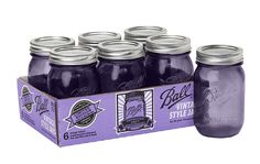 "The limited edition Purple Ball Heritage Collection Regular Mouth Pint Jars celebrate the 100th anniversary of the ""IMPROVED"" jar made by the Ball Brothers in 2015. #heritagecollection"