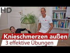 Knieschmerzen an der Aussenseite, Aussenband, Aussenmeniskus // Übungen - YouTube