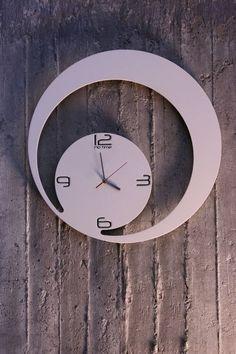 New Clock Design by Dana and Vlad Bostina from arhiDOT Clock Art, Diy Clock, Clock Decor, Unique Clocks, Cool Clocks, Dandelion Clock, Wall Watch, Metal Clock, Wall Clock Design