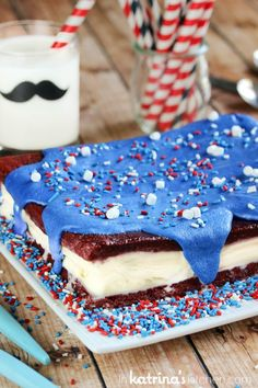 Red Velvet Brownie Ice Cream Cake Recipe the perfect slice and serve frozen treat