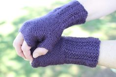Cartridge Rib Fingerless Gloves - just crafty enough