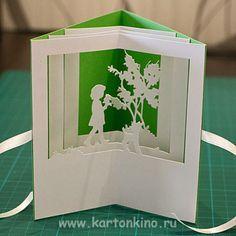 Открытка-туннель для девочки и книжка-карусель