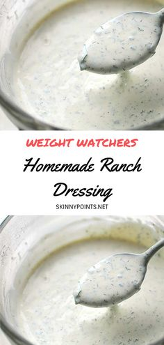 Detox Drink For Weight Loss Before Bed Weight Watchers Salad, Weight Watchers Smart Points, Weight Watchers Free, Weight Watchers Ranch Dressing Recipe, Weigh Watchers, Keto Ranch Dressing Recipe, Weight Watchers Sides, Weight Watchers Appetizers, Healthy Ranch Dressing