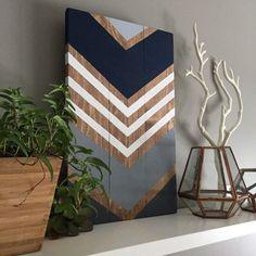 Diy Canvas Art 28971 Modern Chevron Wood Wall Art Sign by SamBeeDesigns on Etsy Diy Wand, Diy Canvas Art, Diy Wall Art, Art Deco Furniture, Diy Furniture, House Furniture, Painting Furniture, Modern Furniture, Mur Diy