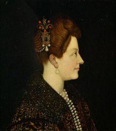 Marie de Médicis, reine de France et de Navarre, à l'époque de son mariage, d'après Jacopo Empoli