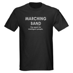 Amazon.com: Marching Band Funny Dark T-Shirt by CafePress: Clothing