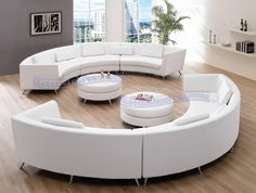 curved modules for S-shaped seating in middle of room; I would want small, mobile modules.