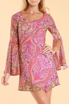 Pink Owl Janice Dress In Fuchsia - Beyond the Rack
