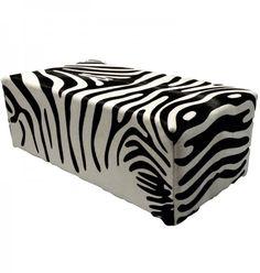Zebra Hooker, zebra huid meubelstuk