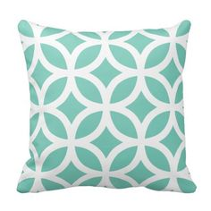 Accent pillows with a geometric design. Decorative pillows in many colors and styles available from Richard Stone Throw Pillows. Pink Throw Pillows, Throw Pillow Cases, Decorative Throw Pillows, Accent Pillows, Pillow Covers, Geometric Throws, Geometric Pillow, Circle Pattern, Light Teal