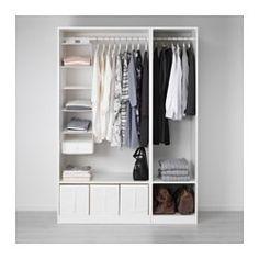 IKEA - PAX, Garderobekast, 150x58x201 cm, , Gratis 10 jaar garantie. Raadpleeg onze folder voor de garantievoorwaarden.Deze kant-en-klare PAX/KOMPLEMENT-oplossing is met de PAX-planner makkelijk aan te passen aan je behoefte en smaak.Wil je de binnenkant op orde houden, dan kan je het geheel completeren met inrichting uit de serie KOMPLEMENT.Met de verstelbare poten kan je oneffenheden in de vloer opvangen.