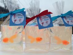 10 DR SEUSS Fish in a bag Soaps (Tags and ribbons included) Dr. Seuss, Cat in the Hat