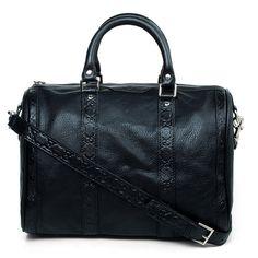 Gucci Embossing leather handbags 247205 black