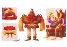 Three Wise Men by Alfonso Salazar, via Behance