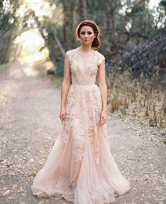Vintage, romantic wedding dress.