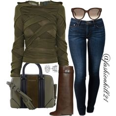 Untitled #1321 by fashionkill21 on Polyvore featuring mode, Burberry, THVM, Givenchy, Allurez and CÉLINE