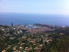 Monaco from up high in La Turbie