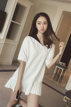 a1b892b3949c5b Aliexpress.com   Buy Japanese Preppy style Sailor dress vestido marinero  tee shirt dress linen cotton cute dresses for juniors vestidos cortos from  Reliable ...