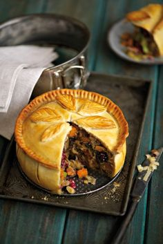 Squash and mushroom raised pie