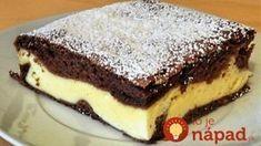 Nesmierne chutný kakaový koláč s kyslou smotanou, hotový za chvíľku: Náplň ukrytá priamo vo vnútri cesta! Pound Cake, Sweet Recipes, Cooking Tips, Cookie Recipes, Cheesecake, Food And Drink, Sweets, Cookies, Drinks