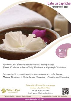 Pamper Your body in Wellness & Spa Gloria Palace. Playa de Amadores, Puerto Rico, Gran Canaria. www.gloriapalaceth.com