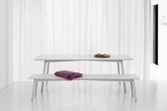PROFILE TABLE & PROFILE BENCH by Stattmann Neue Moebel. Design by Sylvain Willenz.