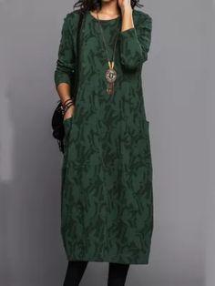 Long Sleeve Vintage Fall Dresses