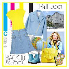 """jacket"" by bodangela ❤ liked on Polyvore featuring Warehouse, Love Moschino, Dr. Martens, YLIANA YEPEZ, BackToSchool and falljacket"
