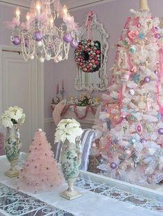 Glamurosa decoracion de Navidad.