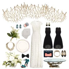 """""""Understated Autumn"""" by Sugarcomb on Polyvore. #wedding #teal #branches"""