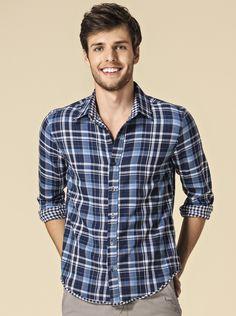 Camisa Masculina Xadrez Em Algodão | Camisas | Masculino | Hering