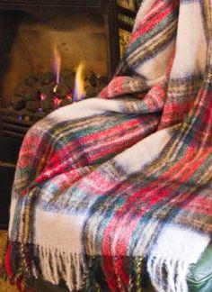 Blarney Tartan Mohair Throw - Dress Stewart
