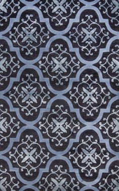 Satara Lattice HAC26 Blue Rug | Contemporary Rugs
